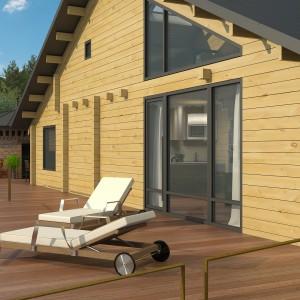 Индивидуальный проект жилого дома из бруса