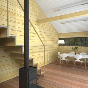 Интерьер летнего загородного дома из бруса